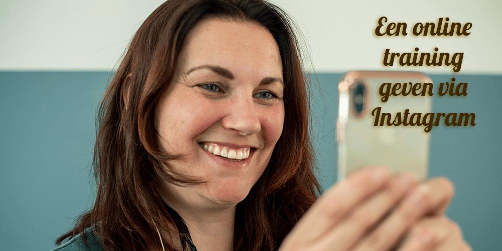 Header Online Instagram Training geven